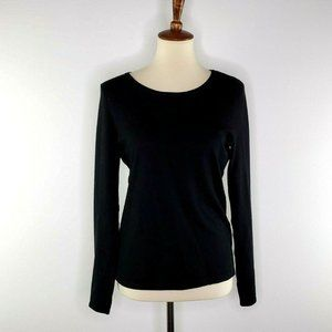 Chicos Womens Sweater Top Black Gold Zipper Size 0